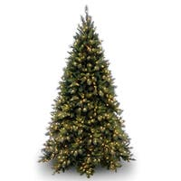 9 ft. Tiffany Fir Medium Tree with Clear Lights - green