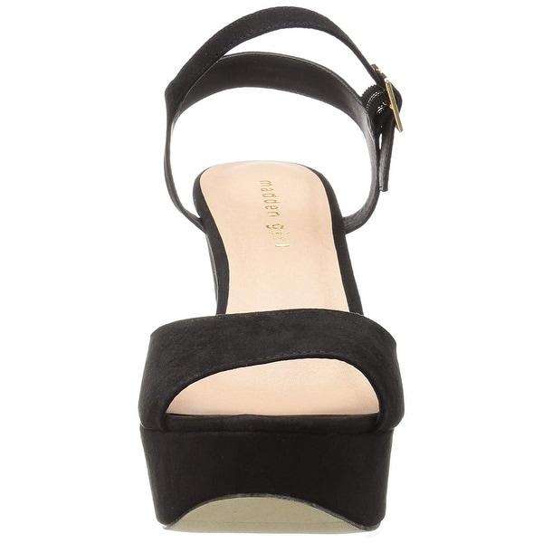Madden Girl Womens Cena Fabric Peep Toe Casual Platform Sandals