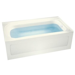 "Miseno MNO3260VAS-R Indulgence 60"" Three Wall Alcove Soaking Bathtub - Self Leveling Base and Overflow Drain Kit Included Free"