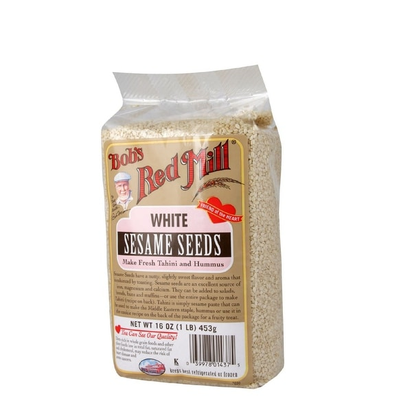 Bob's Red Mill White Sesame Seeds - 16 oz - Case of 4