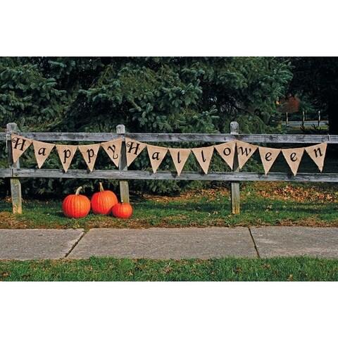 Fun World 9825HH Happy Halloween Banner,12', Cream