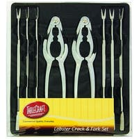 Tablecraft H76984 Lobster Crack and Fork Set, Silver