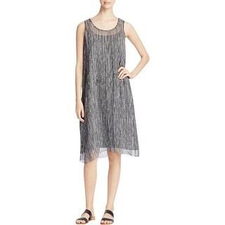 Eileen Fisher Womens Casual Dress Silk Printed - m