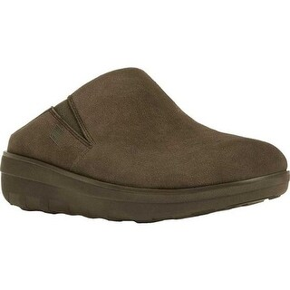 FitFlop Women's Loaff Clog Bungee Cord Suede