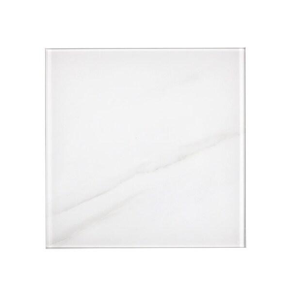 "Miseno MT-WHSWTJ0808-CA Nature - 8"" Square Wall Tile - Glossy Visual - White"