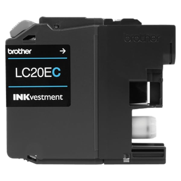Brother LC20EC Brother LC-20EC Ink Cartridge - Cyan - Inkjet - Super High Yield - 1200 Page - 1 Pack - OEM
