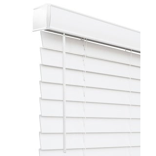 Link to CHICOLOGY Cordless Faux Wood Blind, Basic White Similar Items in Blinds & Shades