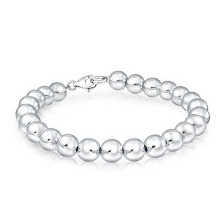 Bling Jewelry 925 Sterling Silver Beaded Ball Wedding Bridal Bracelet 8mm