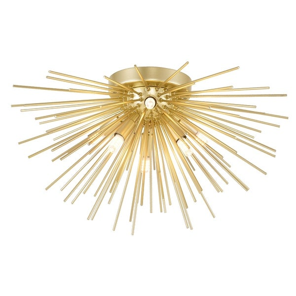 Savannah 6 Light Flush Mount with Gold Leaf Finish. Opens flyout.