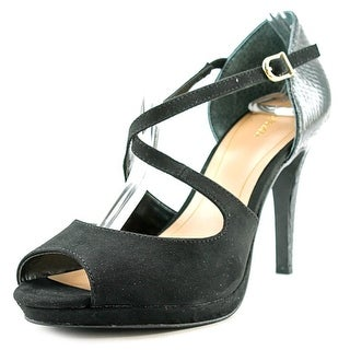 Style & Co Simmone Open Toe Synthetic Platform Heel