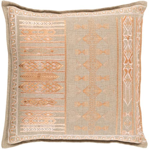 Decorative Fort Worth Peach 22-inch Throw Pillow Cover