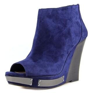 Vince Camuto Waliss Women Open Toe Leather Blue Wedge Heel
