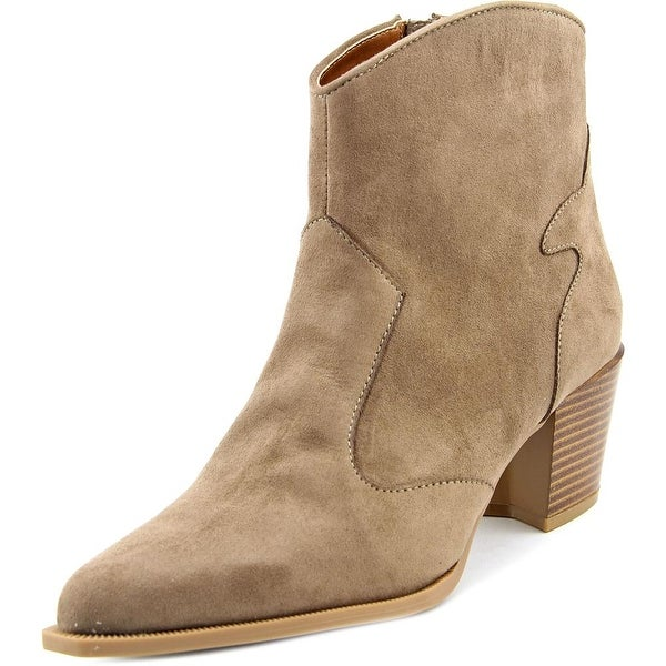 Ann Marino by Bettye Muller Finley Women Pointed Toe Synthetic Ankle Boot