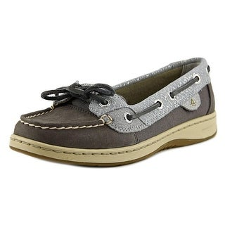Sperry Top Sider Angelfish Fishscale Women Moc Toe Leather Boat Shoe
