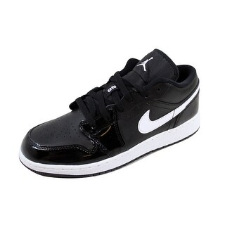 Nike Grade-School Air Jordan I 1 Low BG Black/White-White 553560-002