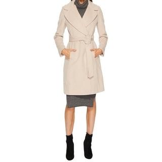 Diane Von Furstenberg Amelie Camel Wool Wrap Coat