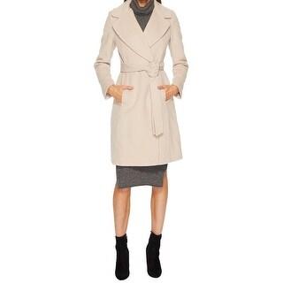 Link to Diane Von Furstenberg Amelie Camel Wool Wrap Coat Similar Items in Women's Outerwear