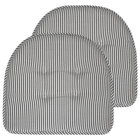 Pinstripe U Shaped Memory Foam Chair Pad