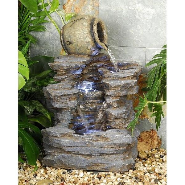 Spilling Jug Cascading Garden Fountain