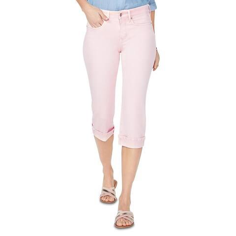 NYDJ Womens Marilyn Cropped Jeans Denim Lift Tuck Tchnology - Pink Dusk