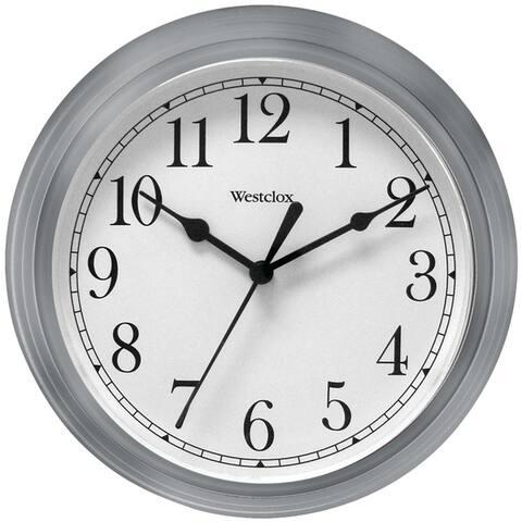 "Westclox 46984A 9"" Decorative Wall Clock (Gray)"