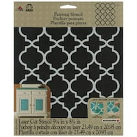 "FolkArt Painting Stencil 8.5""X10""-Moroccan Tile"