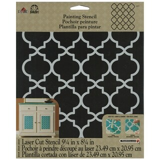 """FolkArt Painting Stencil 8.5""""X10""""-Moroccan Tile"""
