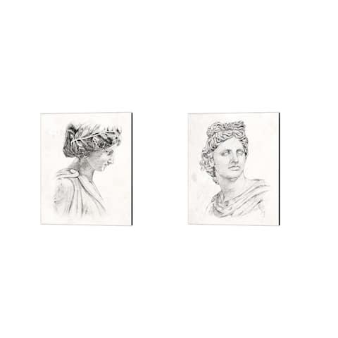 Annie Warren 'Greek Statue' Canvas Art (Set of 2)