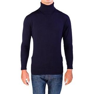 Valentino Men's Turtleneck Sweater Dark Navy Blue