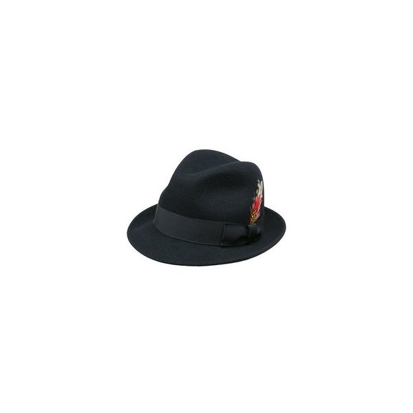 16133c13e2978 Shop Jake Crushable Pinchfront Fedora Hat in Black - Free Shipping Today -  Overstock - 27033071