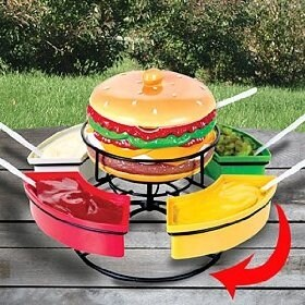 Revolving Burger Condiment Caddy