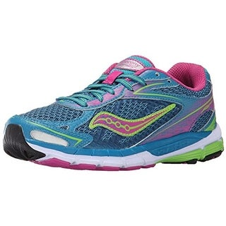 Saucony Girls Ride 8 Colorblock Leather Athletic Shoes