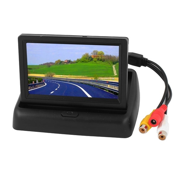 "Unique Bargains Black 4.3"" LCD Rear View Reverse Color DVD AT Camera Monitor for Car"