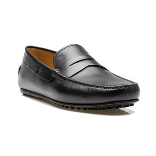 Tod's Men's Leather Mocassino City Gommino Loafer Shoes Black - 7 us