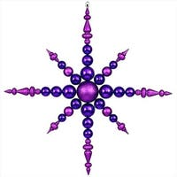 43 in. Purple Commercial Sized Shatterproof Radical Snowflake