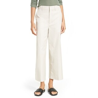 Vince Beige Women's Size 4X25 Hook-Closure Wide-Leg Trousers Pants