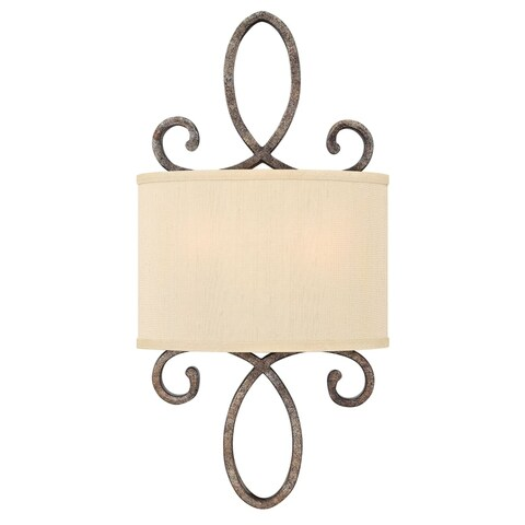 Fredrick Ramond FR42500 2 Light Wall Sconce from the Monterey collection - brushed merlot