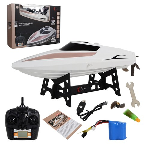 Costway H102 2.4G 4CH RC Racing Boat Radio Remote Control High Speed Wireless Speedboat