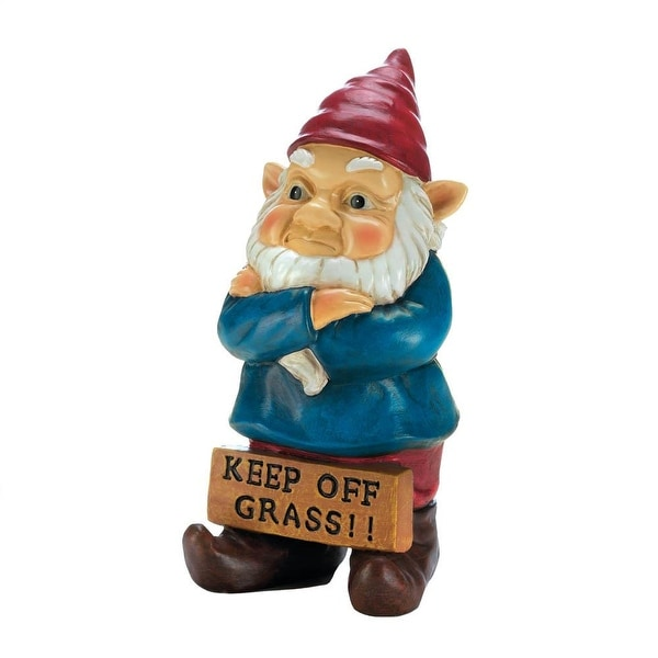 Retro Keep Off Grass Grumpy Gnome