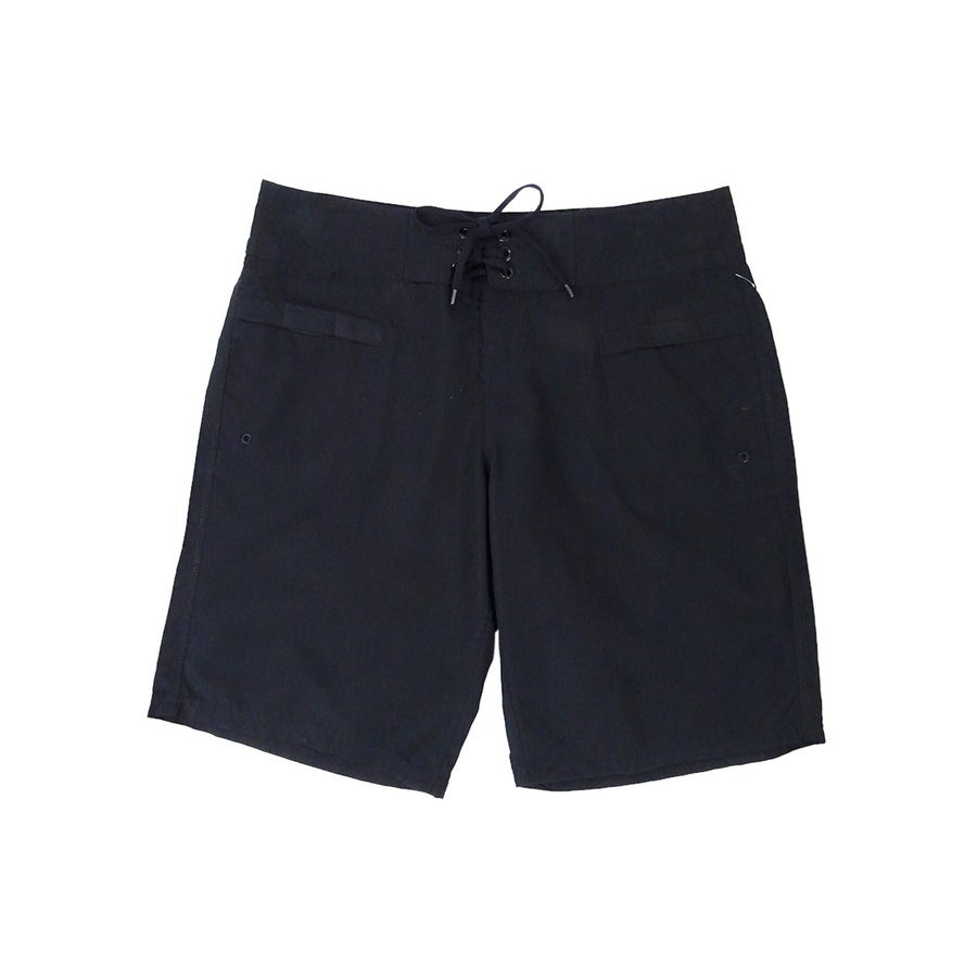 Island Escape Womens Lace-Up Board Shorts - Black