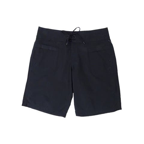 Island Escape Women's Lace-Up Board Shorts - Black