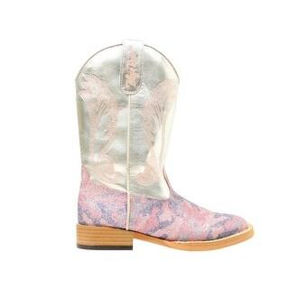 Blazin Roxx Western Boots Girls Jolene Kid Glitter Camo Silver