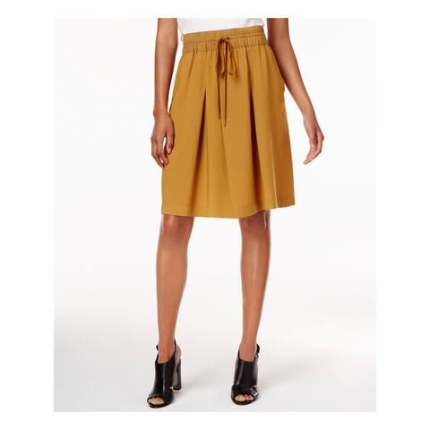 DKNY Womens Brown Wide Leg Short Size S