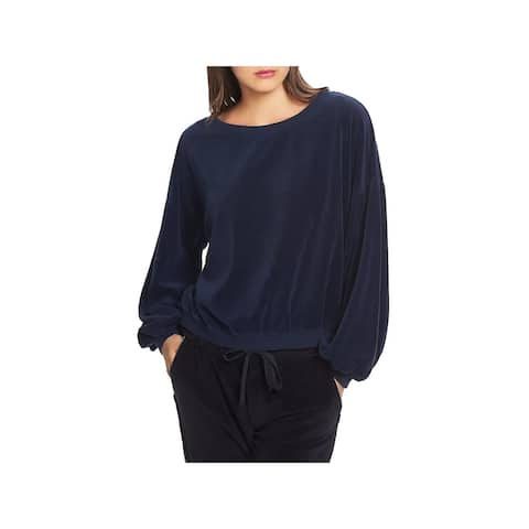 1.State Womens Sweatshirt Velvet Balloon Sleeve