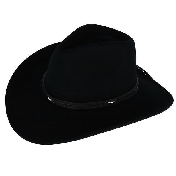 1f7ef9e1431 Shop Kenny K Men s Wool Felt Outback Hat with Faux Leather Band ...