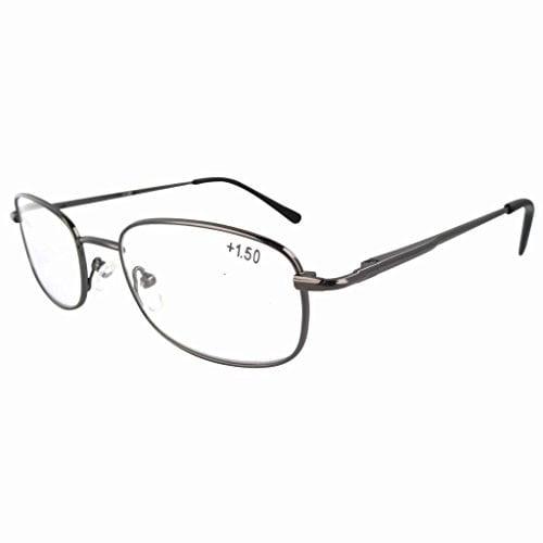 Eyekepper Metal Frame Spring Hinged Arms Reading Glasses +2.25