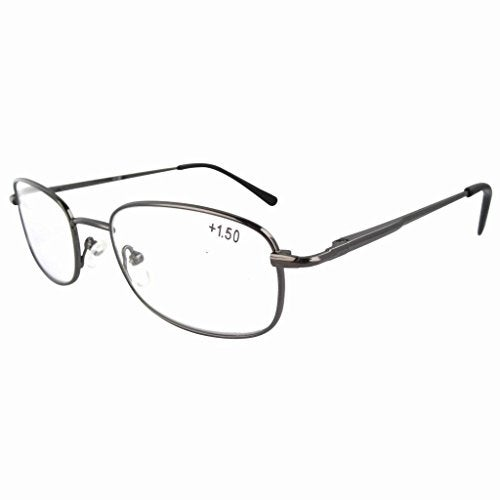 Eyekepper Metal Frame Spring Hinged Arms Reading Glasses +4.0