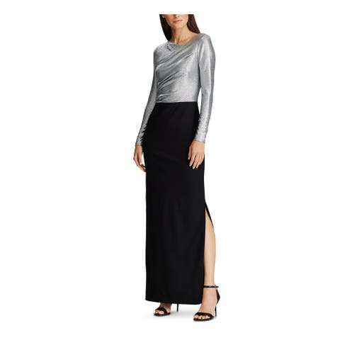 RALPH LAUREN Black Long Sleeve Maxi Dress 12