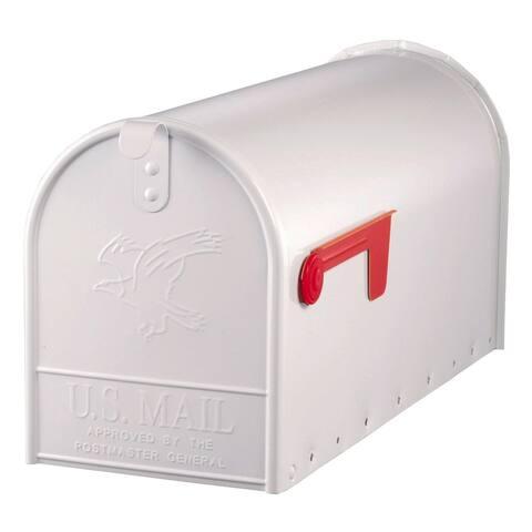 Gibraltar E1600W00 Elite Rural Mailbox, White