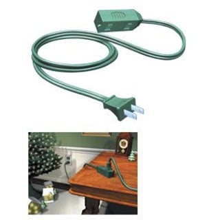 9' Westinghouse Green 3-Outlet Indoor Extension Power Cord with Safety Covers